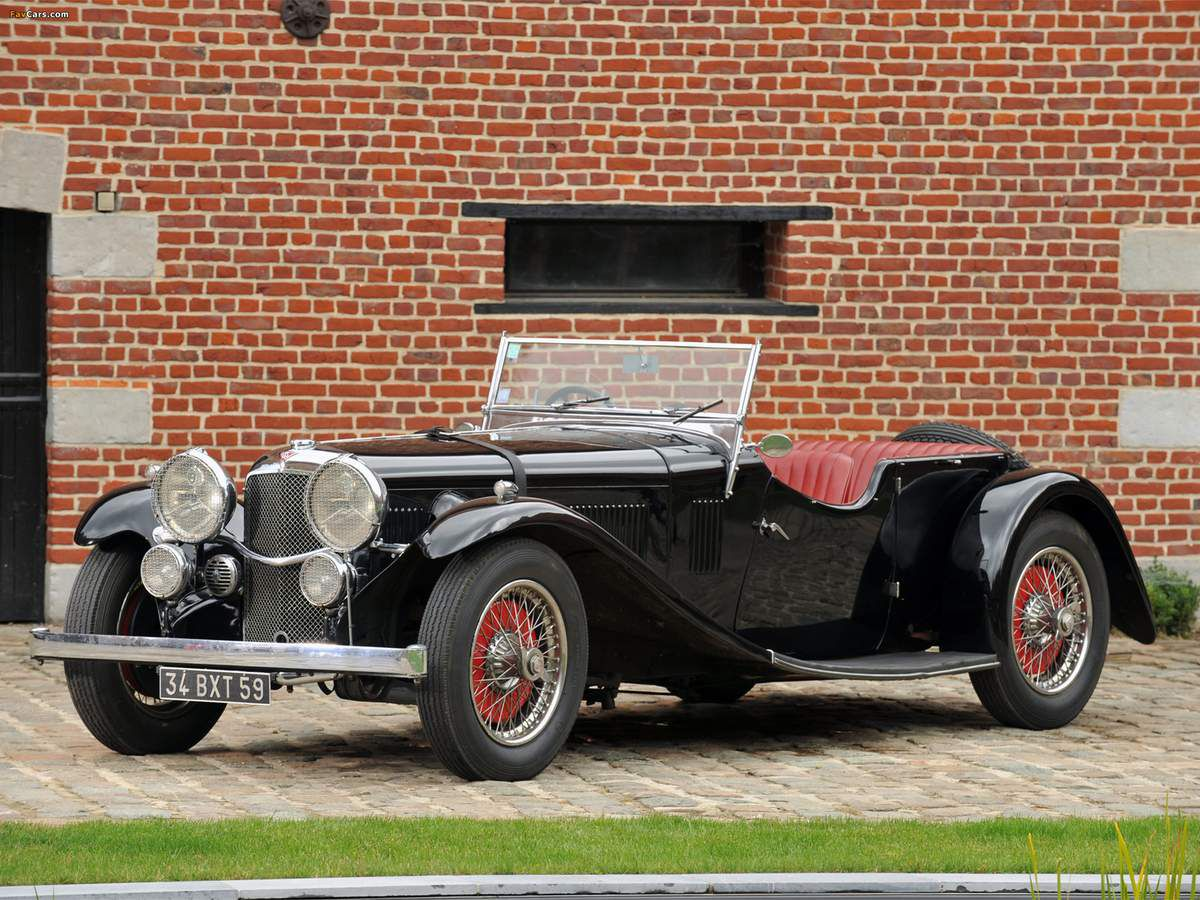 VOITURES DE LEGENDE (940) : ALVIS  SPEED 20  SB VANDEN PLAS TOURER - 1934