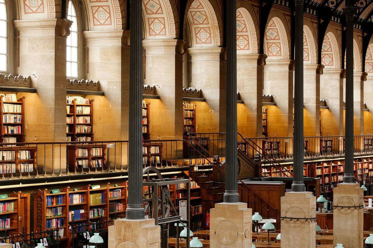 TRESORS DU PATRIMOINE FRANCAIS : PARIS - LA BIBLIOTHEQUE SAINT-GENEVIEVE