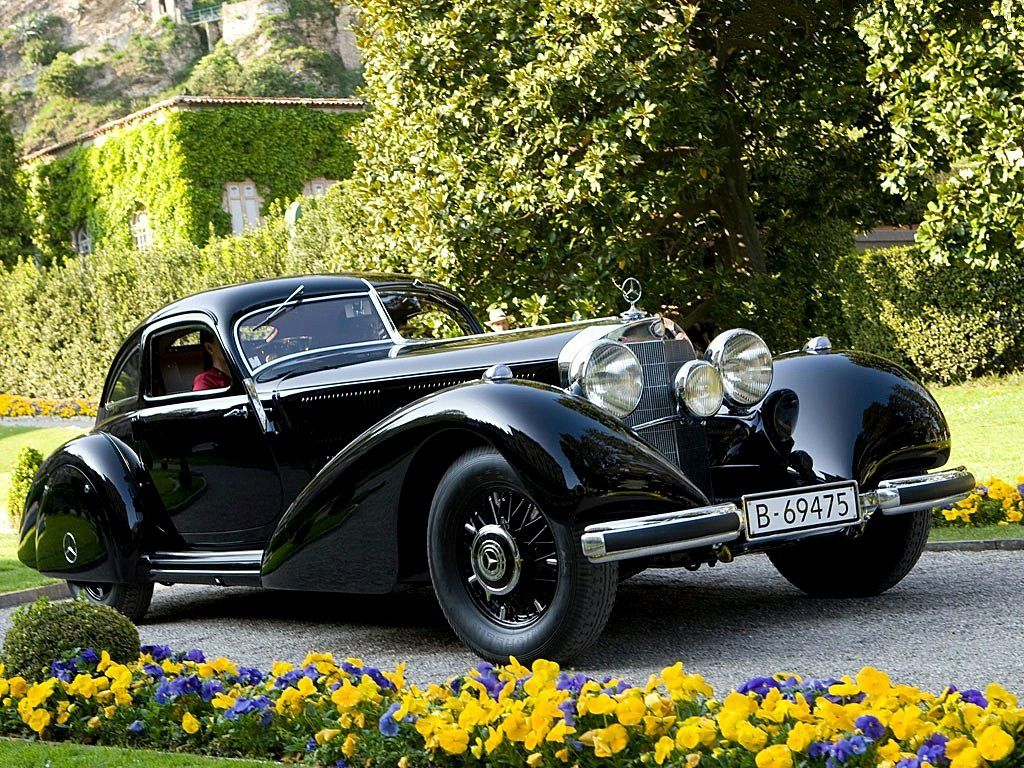 VOITURES DE LEGENDE (967) : MERCEDES-BENZ 540K AUTOBAHN KURIER COUPE - 1937
