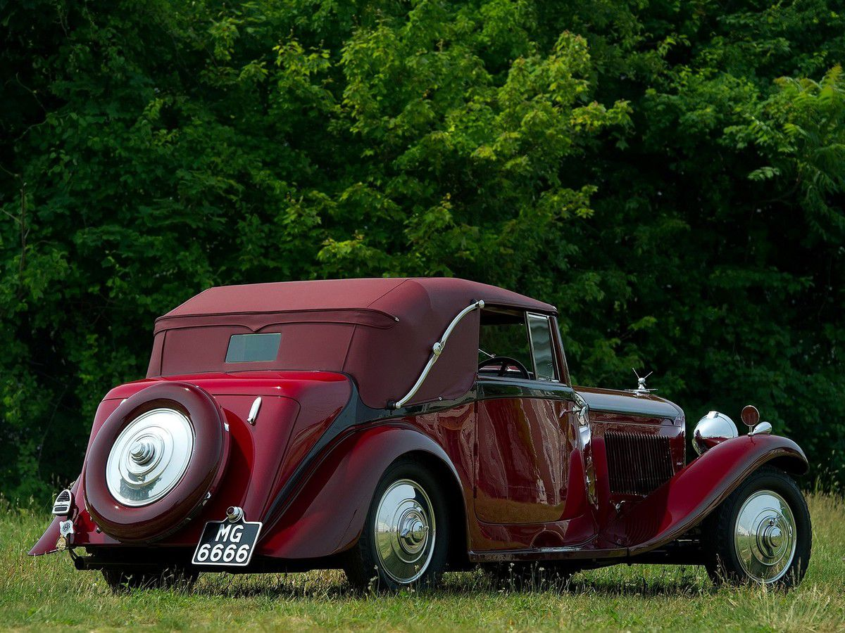 VOITURES DE LEGENDE (969) : BENTLEY  3½ LITRE PARK WARD  DROPHEAD  COUPE - 1934