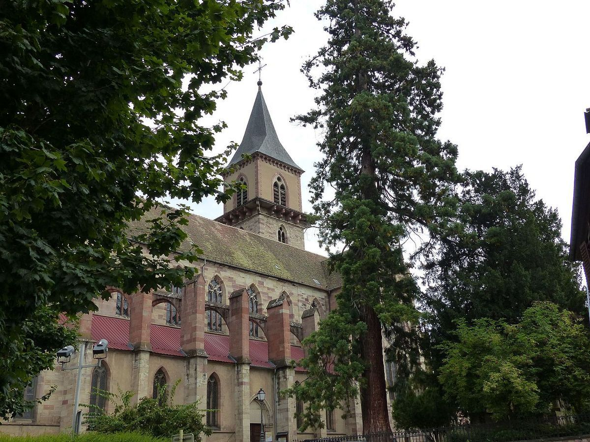 TRESORS DU PATRIMOINE FRANCAIS : RIBEAUVILLE  (HAUT-RHIN) - L'EGLISE SAINT-GREGOIRE