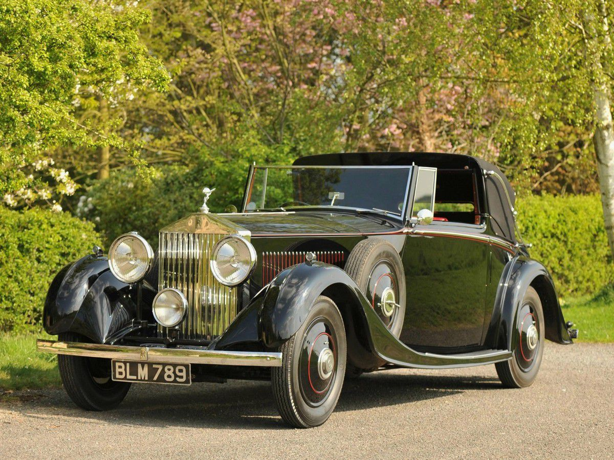 VOITURES DE LEGENDE (997) : ROLLS-ROYCE  20/25 HP MULLINER DROPHEAD COUPE - 1934