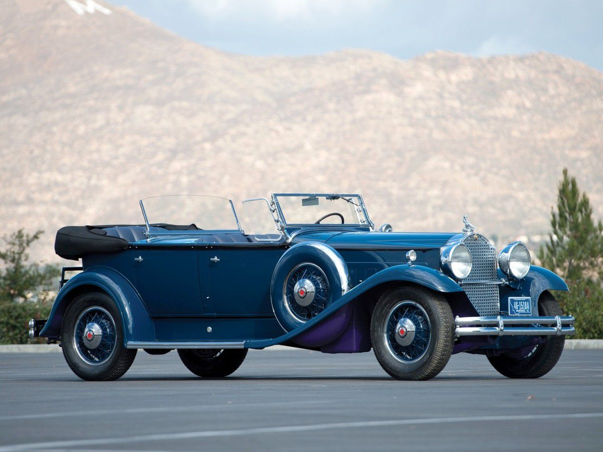 VOITURES DE LEGENDE (1008) : PACKARD DeLuxe EIGHT SPORT PHAETON - 1931
