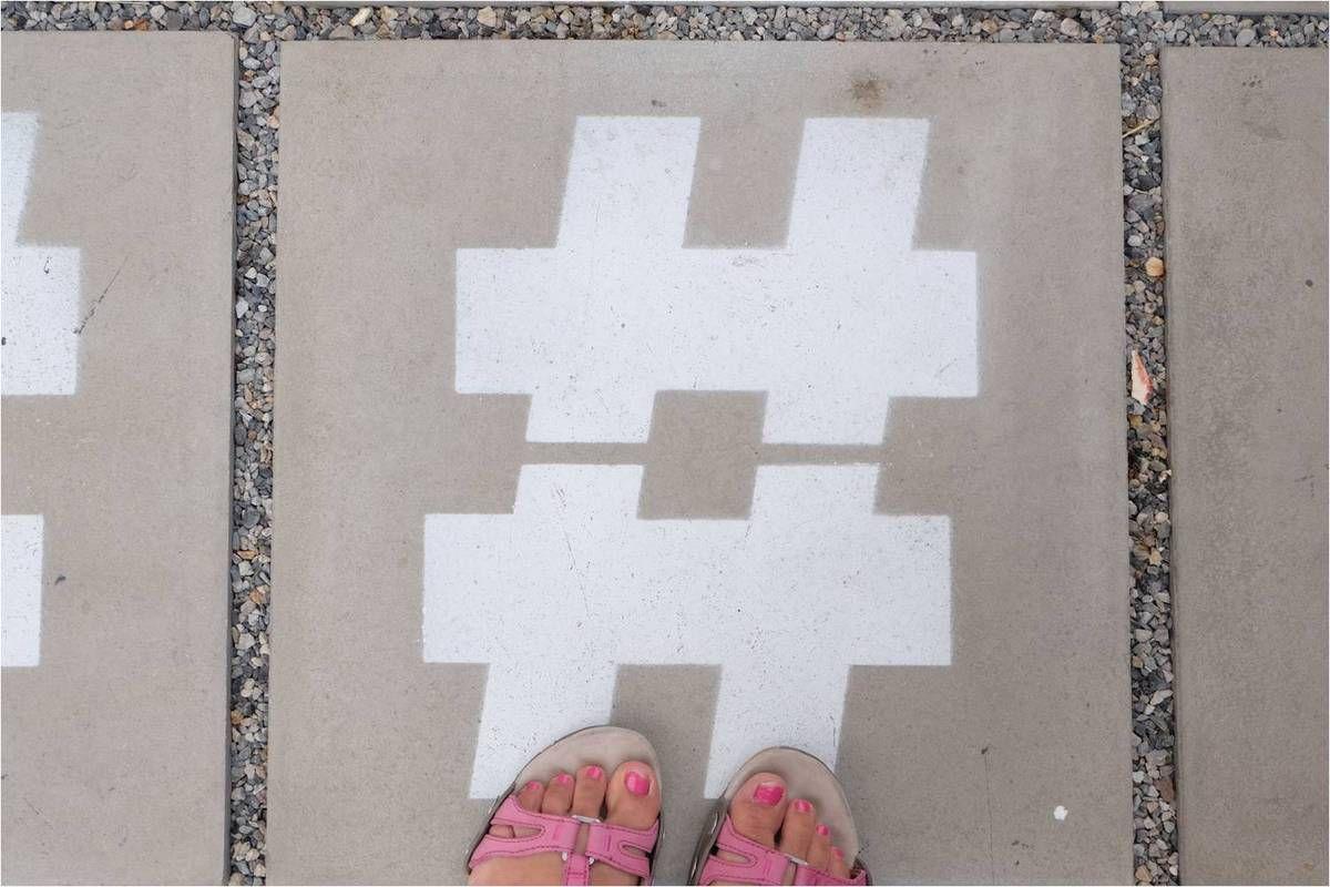 Croiser des hashtags sur sa route, un signe ?