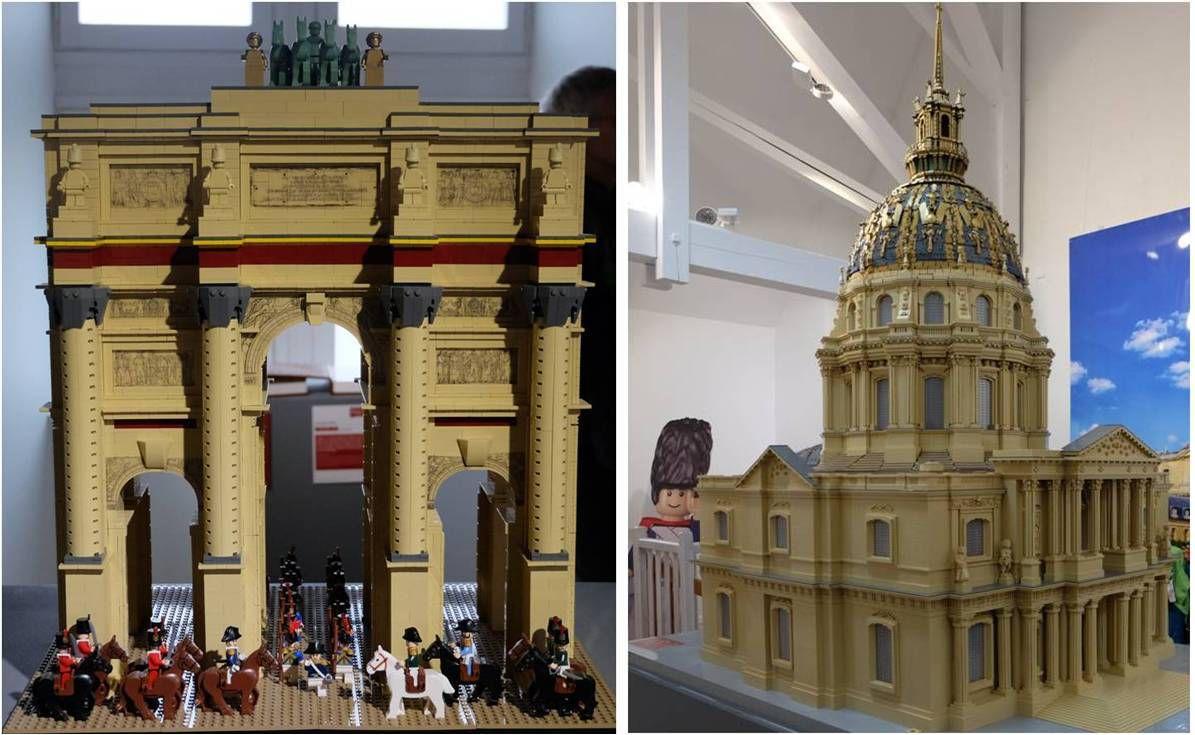 L'Arc de triomphe du Carrousel du Louvre et les Invalides tout en Lego !
