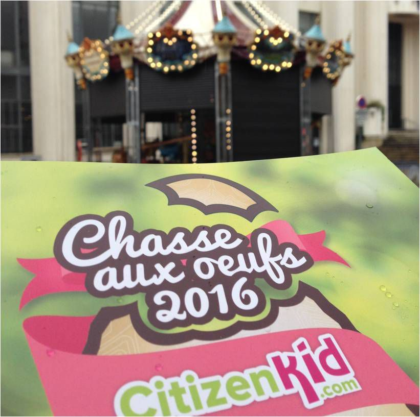 Très sympa le jeu de piste de Pâques avec Citizen Kid à la découverte de Villeurbanne ! Et à la clé des chocolats Lindt ! 😋