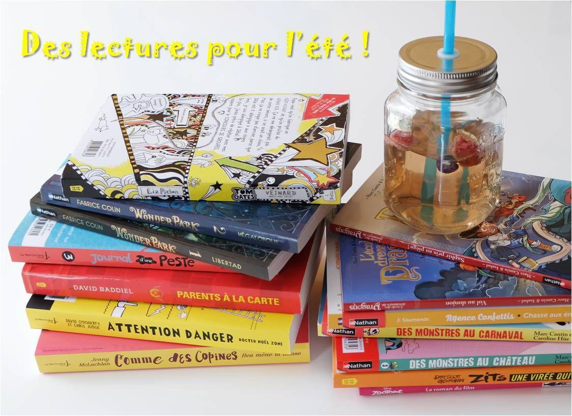 Des lectures pour l'été ! ☀ enfants 8 - 10 ans