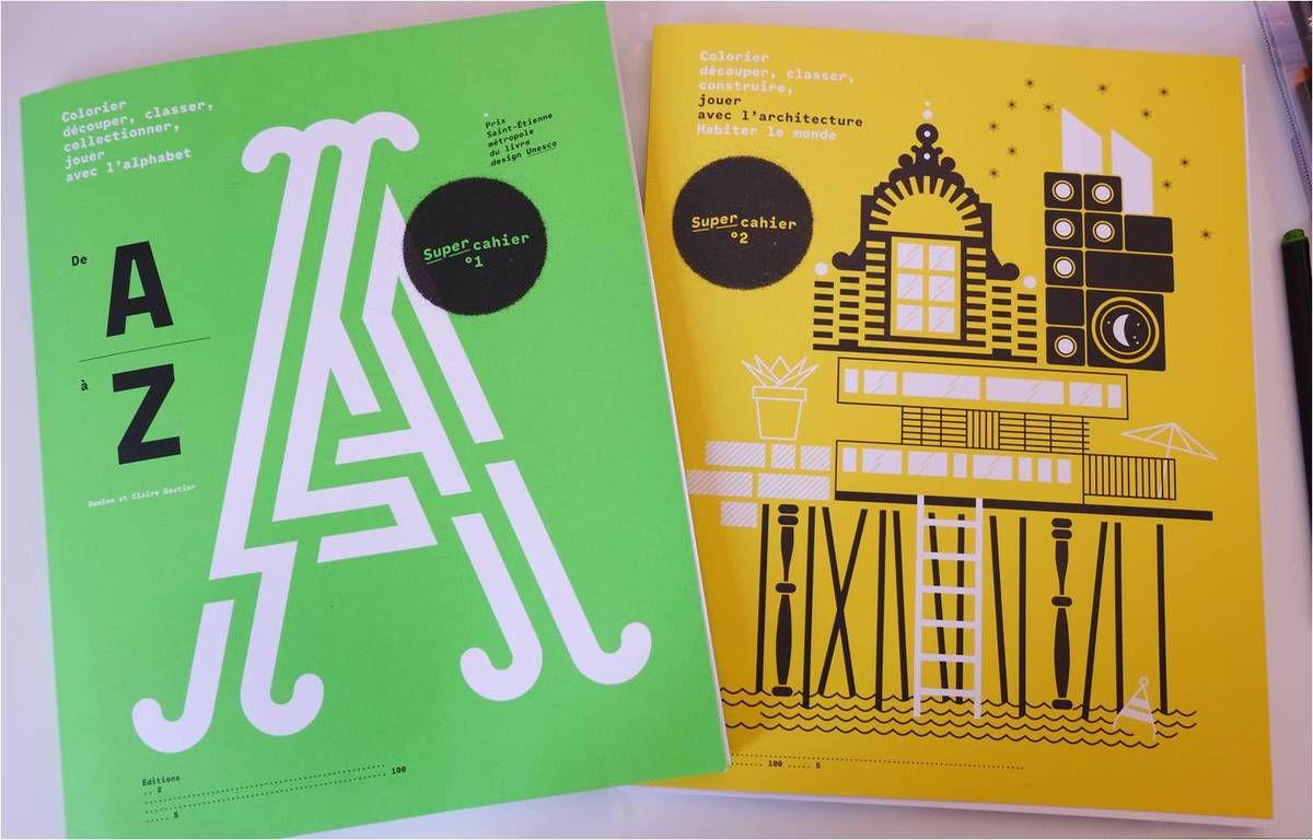 Les Super Cahiers pour jouer avec les lettres et l'architecture