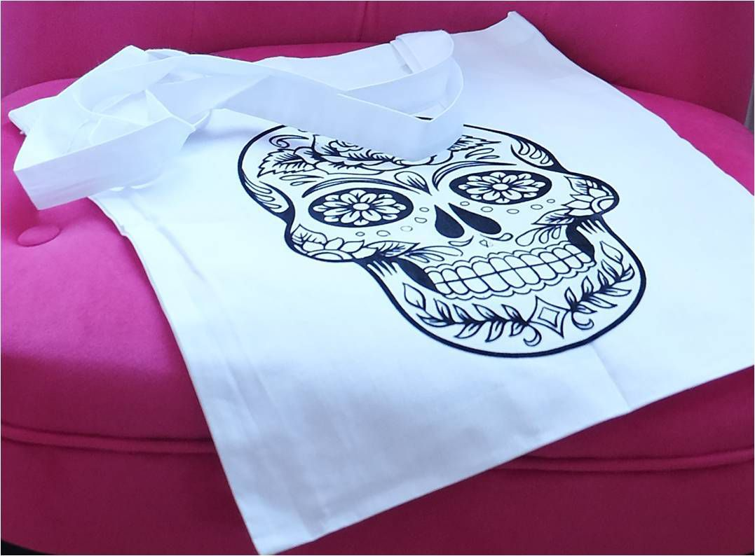 Tote bag Mexican Skull DIY