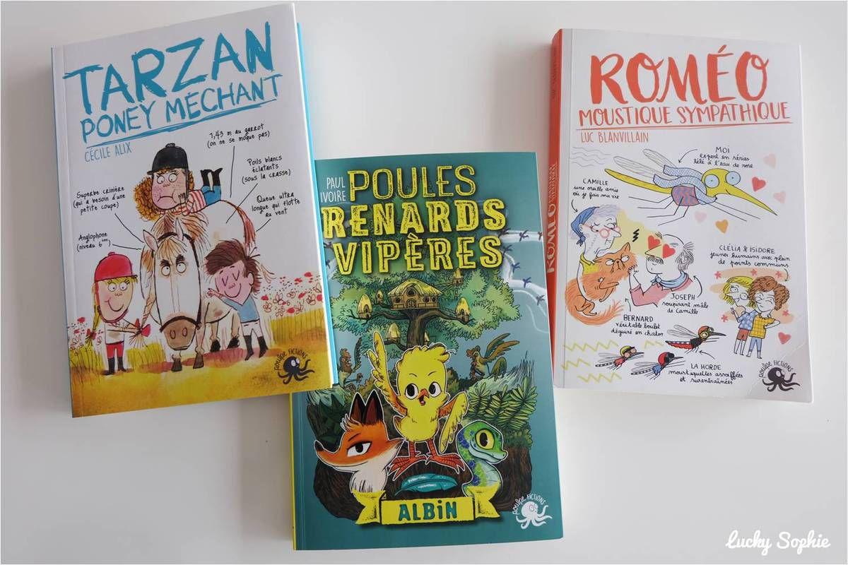 Romans enfants Poulpe Fiction : drôles et bien écrits !