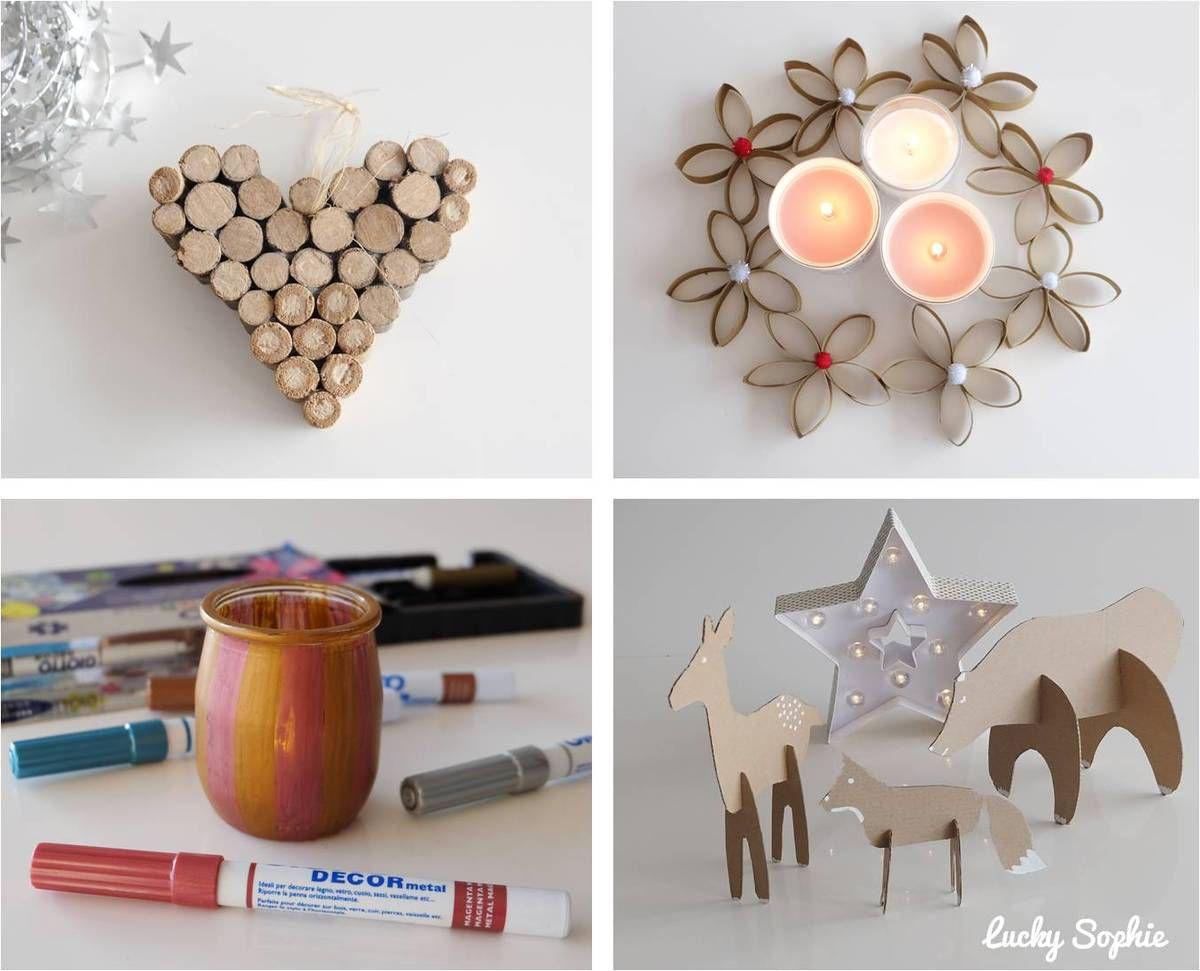 Bricolages de Noël en récup'