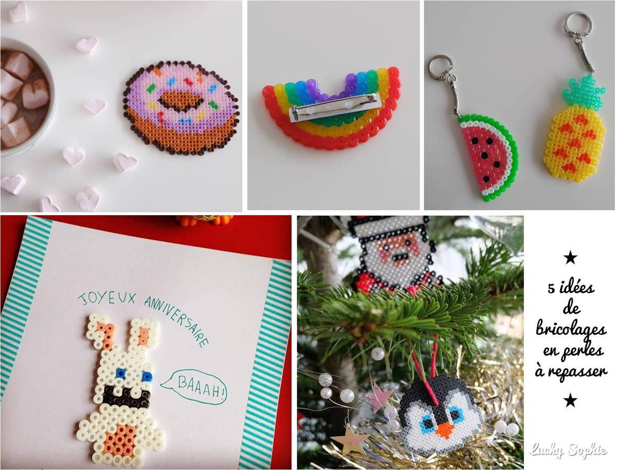 Perles à repasser : tailles et idées de bricolages