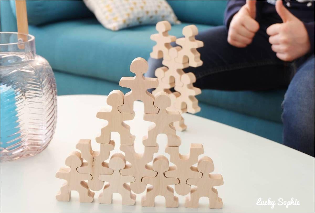 FLOCKMEN, jeu de construction des bonhommes en bois