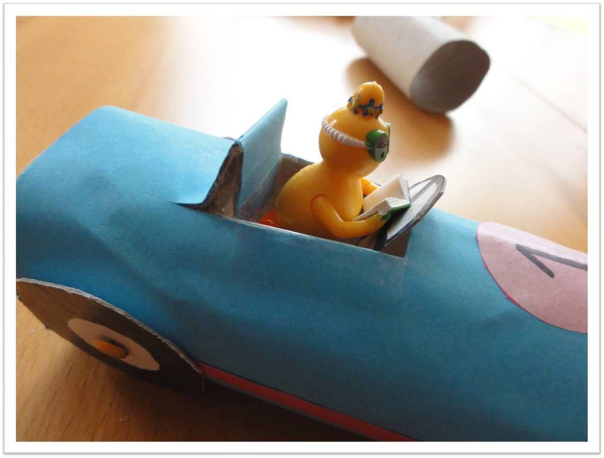 Mini bolides Barbapapa ♥ autos en rouleaux de PQ
