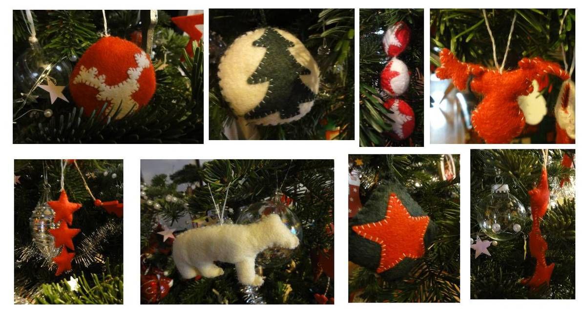 Décos de Noël en feutrine DIY