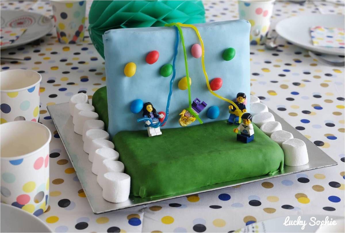 Un gâteau mur d'escalade pour un anniversaire sportif !