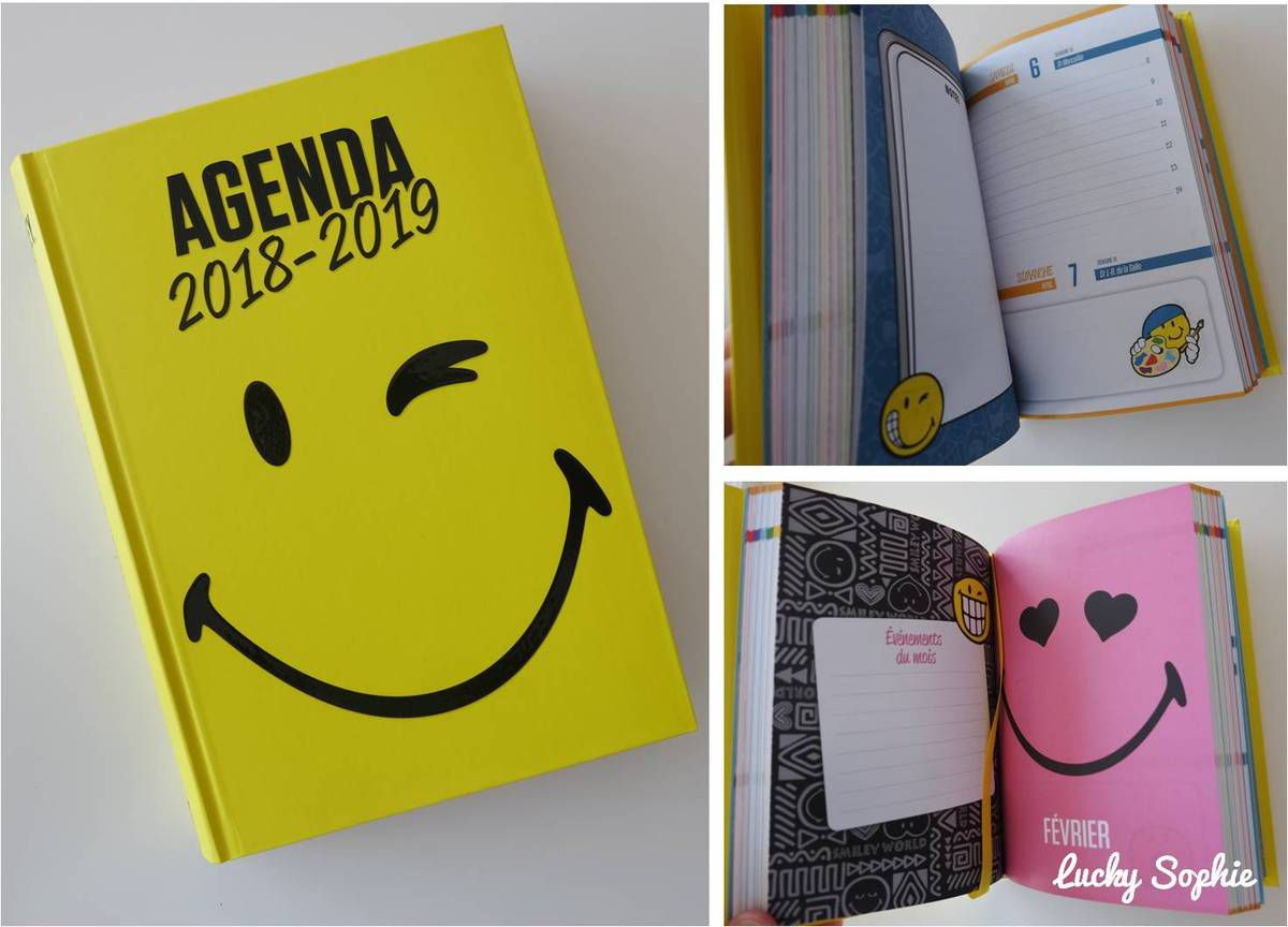 L'agenda 2018-2019 Smileyworld