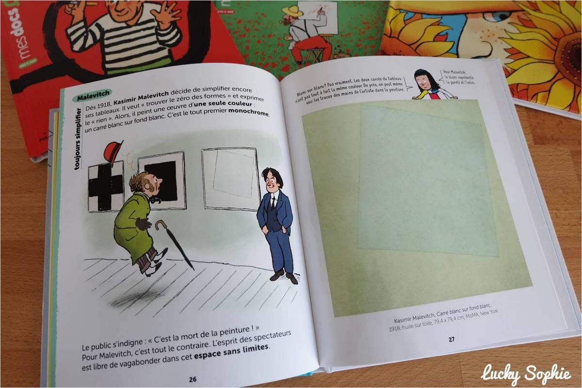 Livres enfants pour connaître les peintres célèbres : mes docs art !