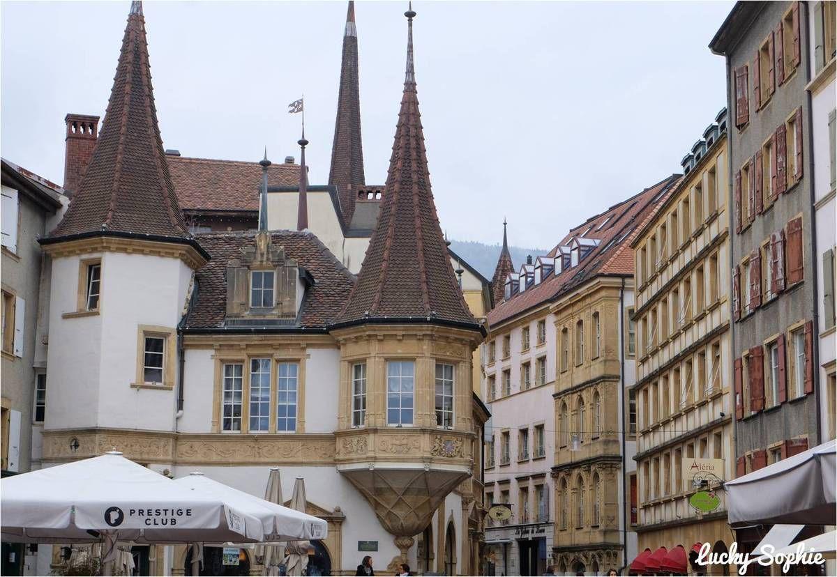La Maison des Halles dans la vieille ville de Neuchâtel