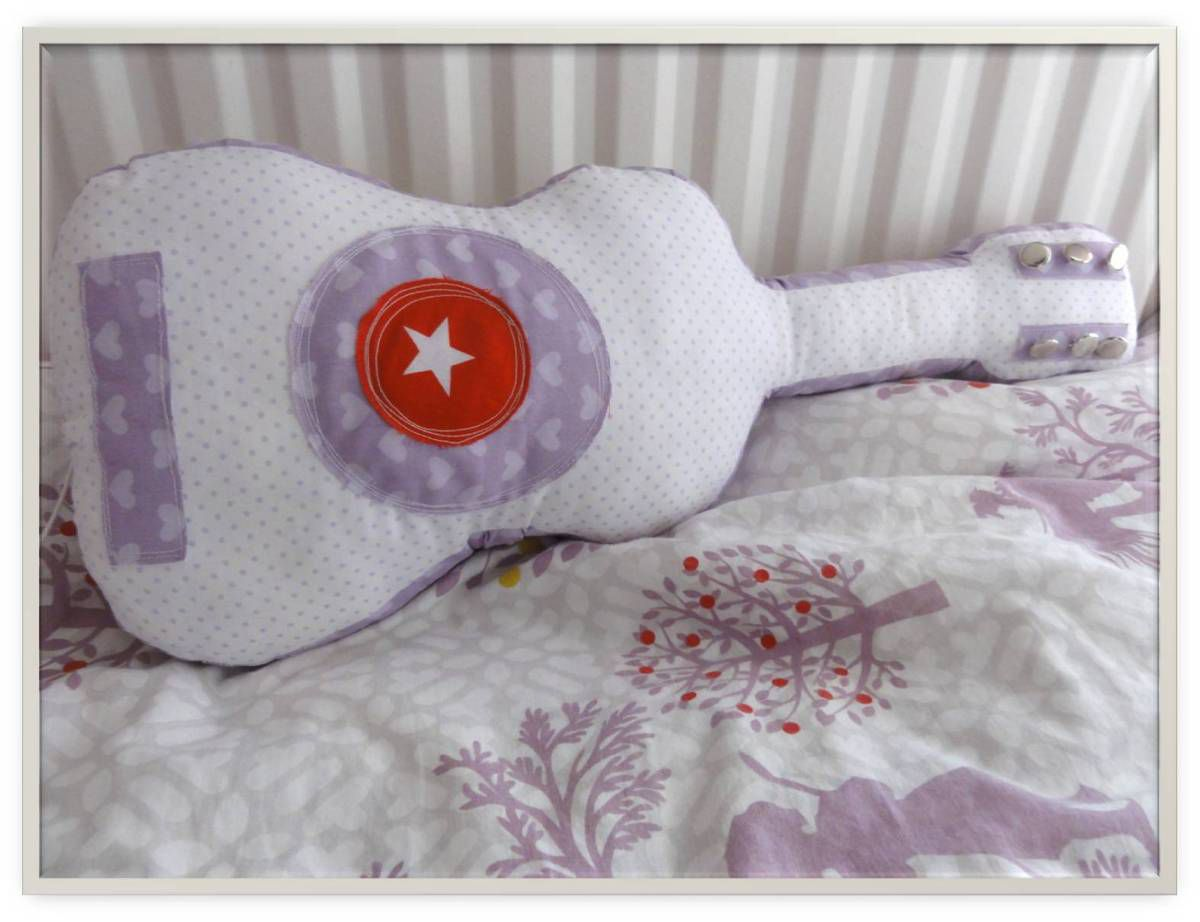 Coussin musical guitare DIY
