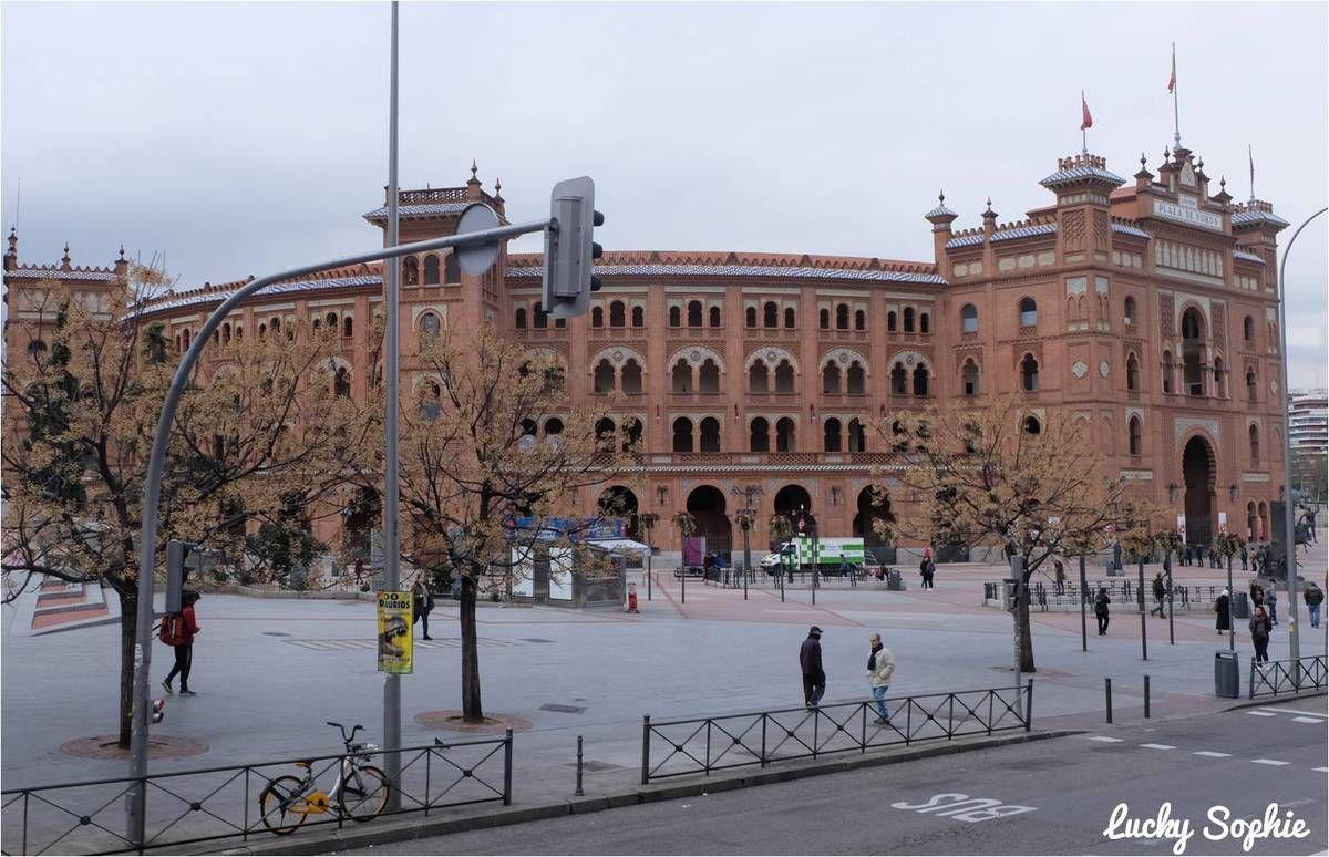 Les célèbres arènes de Madrid (que nous avons choisi de ne pas visiter).