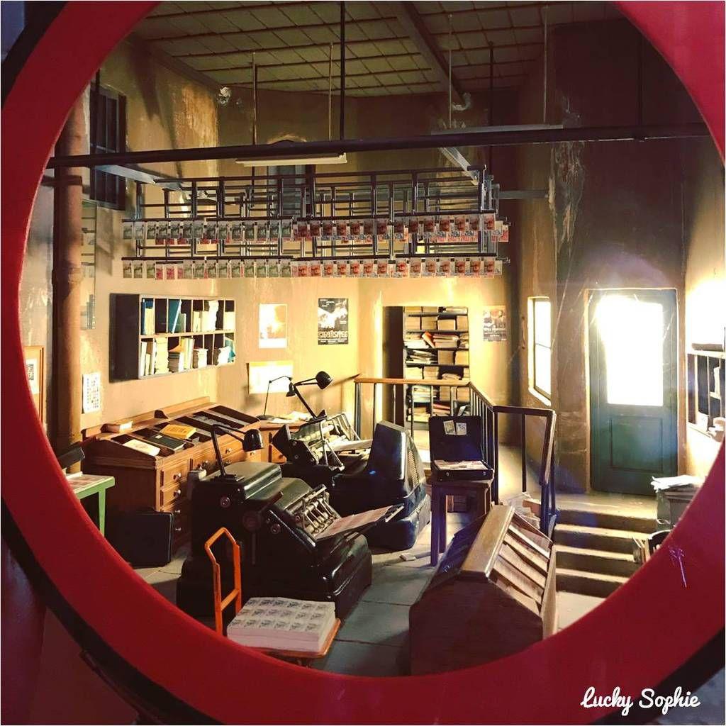 La fabrique de billets de banque dans l'une des vitrines du Musée de la Miniature et du Cinéma, dans le Vieux-Lyon.