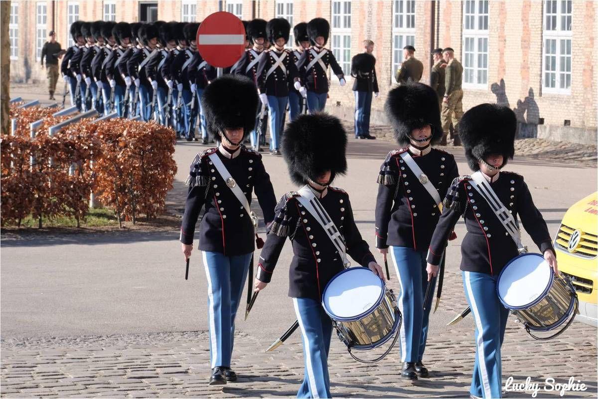 Châteaux et relève de la garde à Copenhague