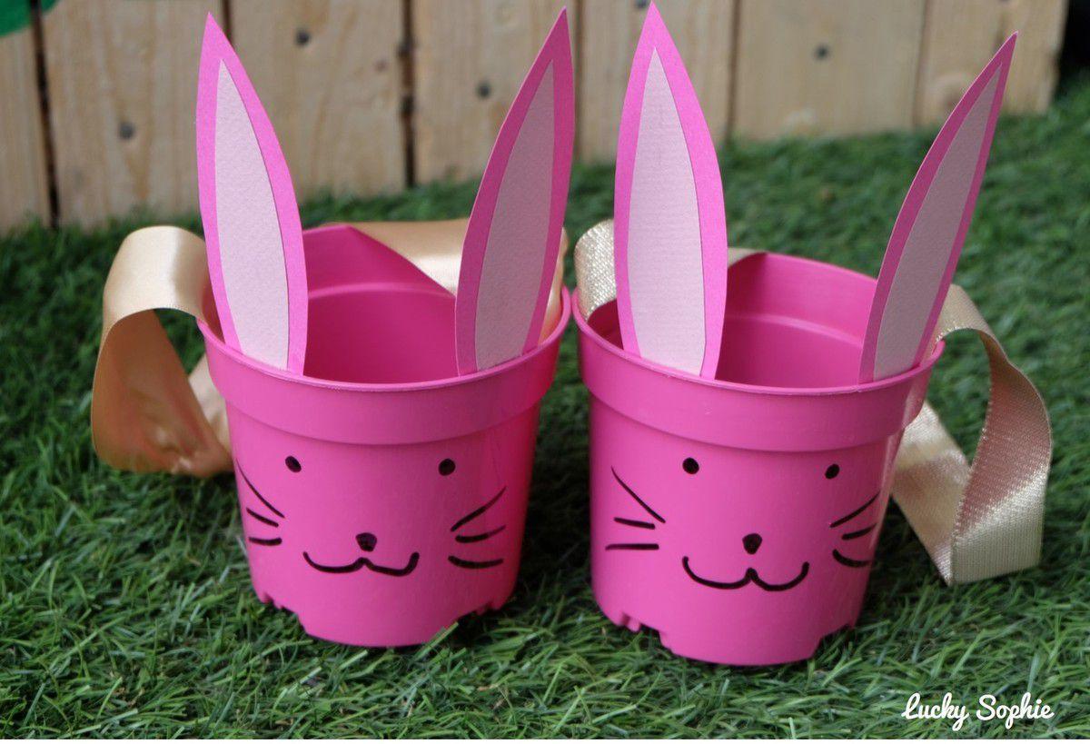 Panier de Pâques lapin DIY récup