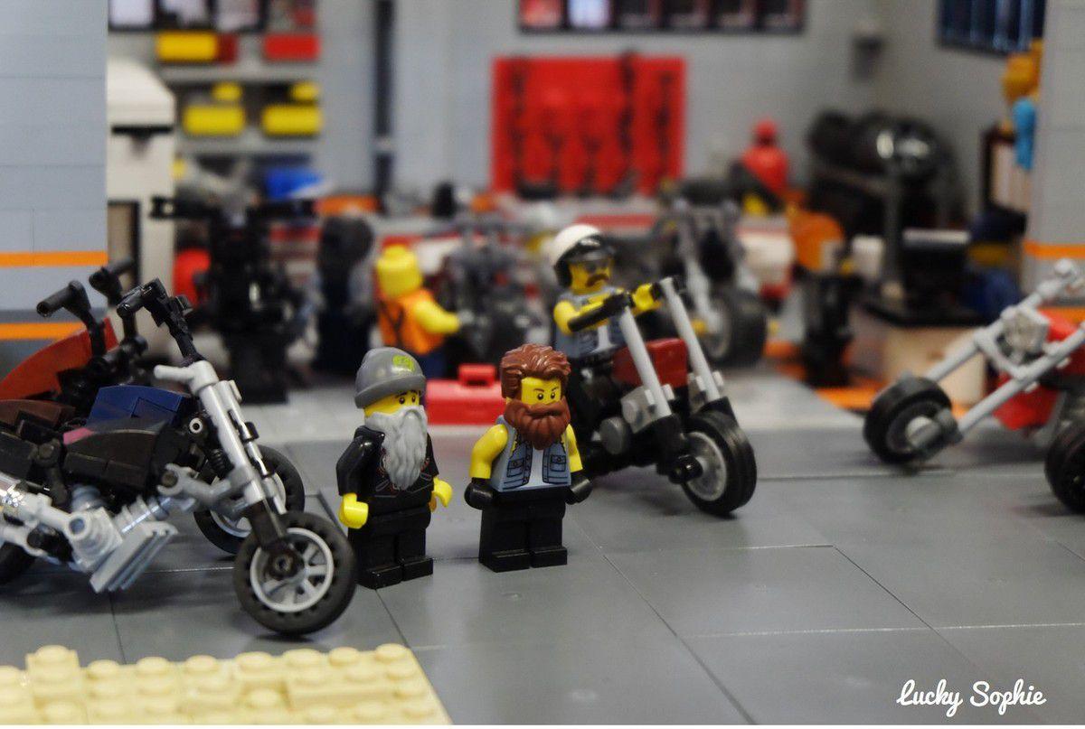 On a adoré le garage de motos !