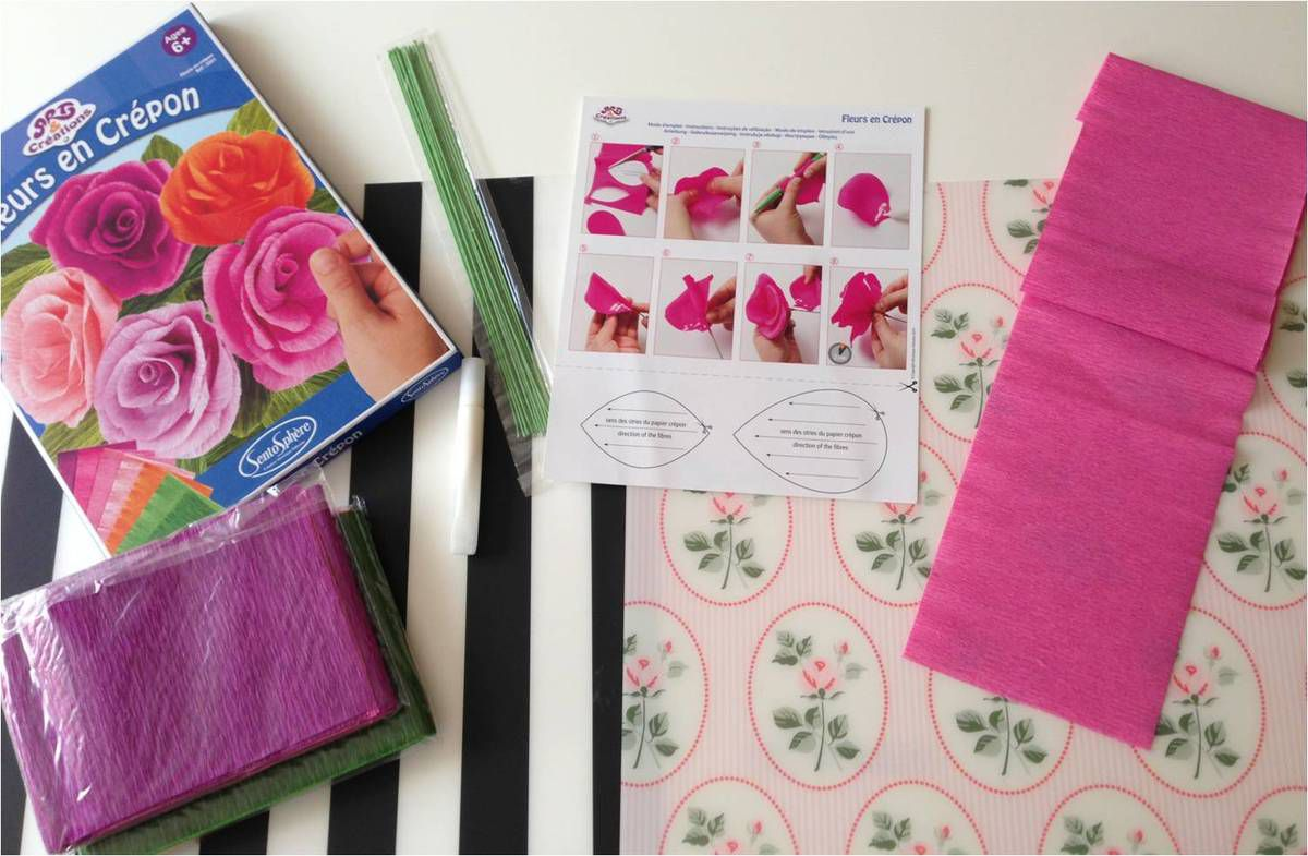 Fleurs en papier crépon : tuto facile de Sentosphère