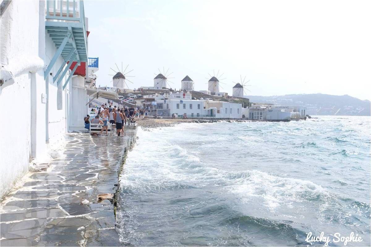 Découvrir Mykonos grâce aux indemnités de retard d'un précédent vol, c'est pas mal hein ?!