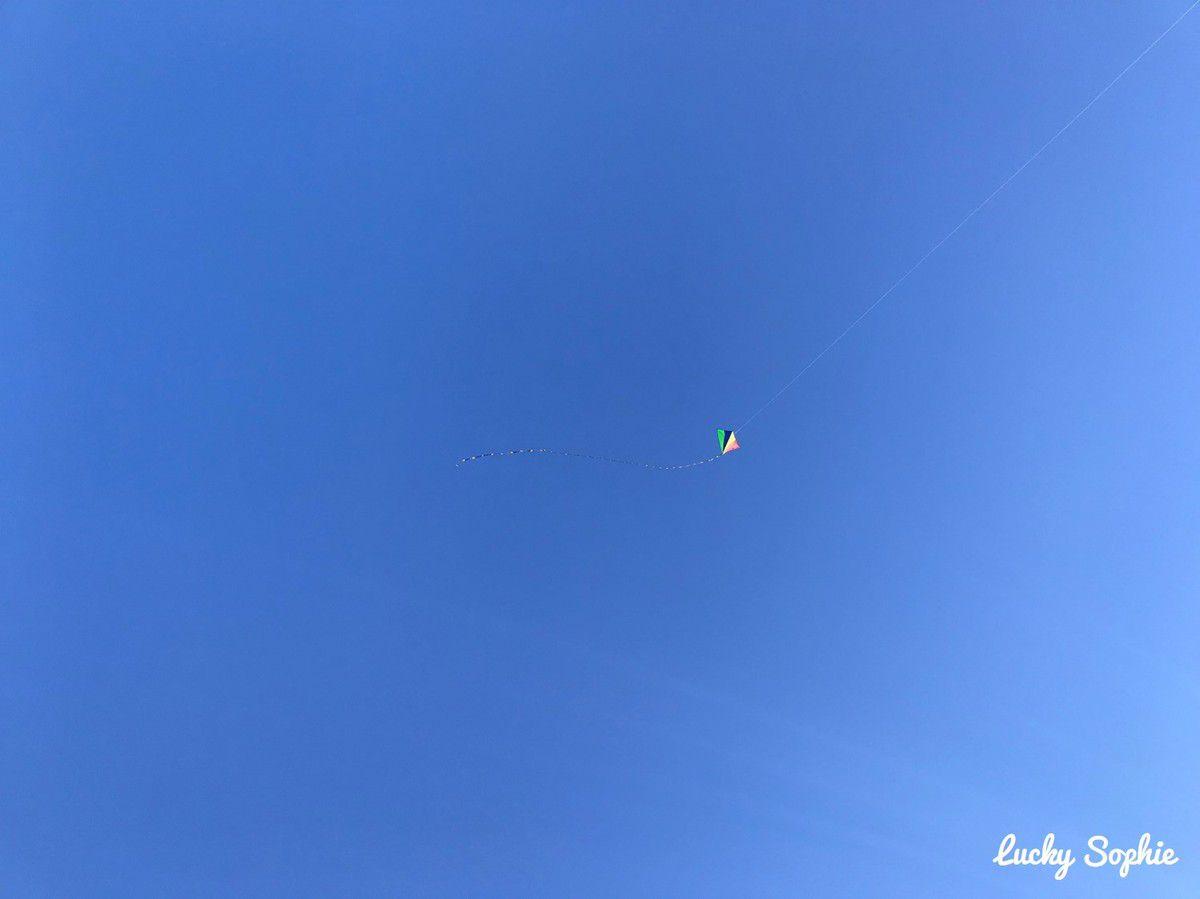 Météo de rêve : pas un nuage à l'horizon, grand ciel bleu et juste assez de vent pour le cerf-volant !