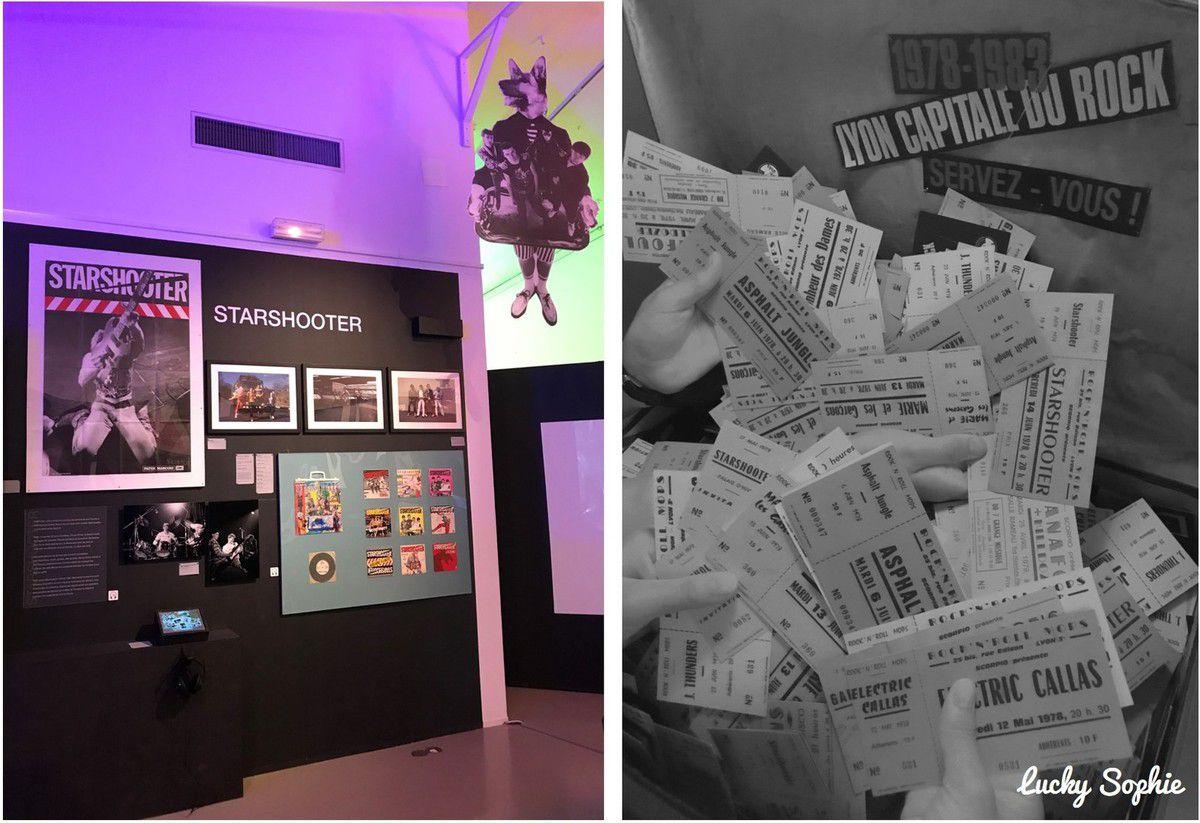 La présentation de l'expo est sympa, on peut même repartir avec des copies de billets de concerts d'époque en souvenir !