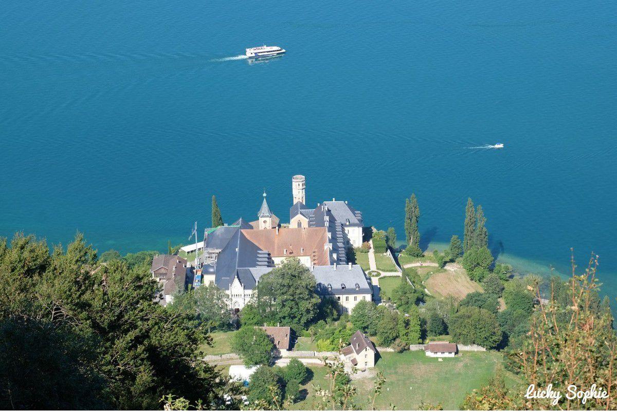 Lac du Bourget et abbaye de Hautecombe
