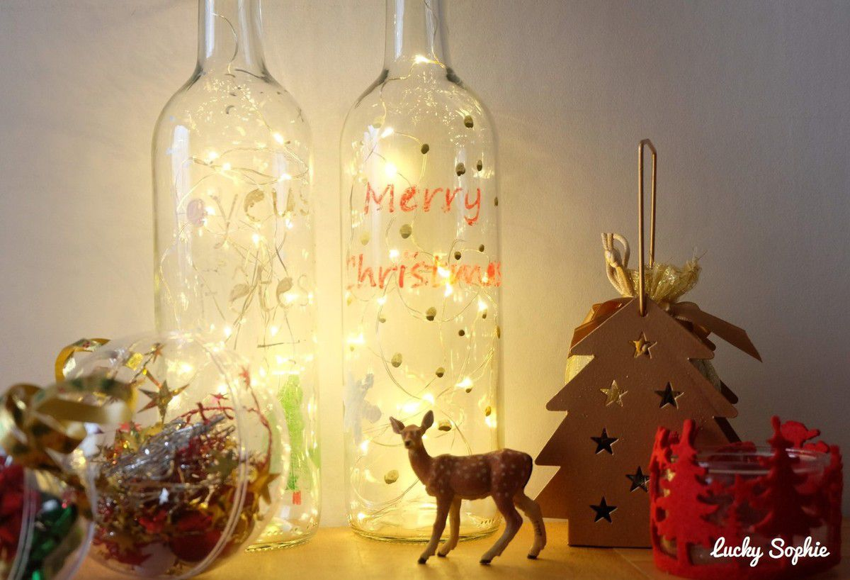 Bouteille lumineuse : DIY minute !