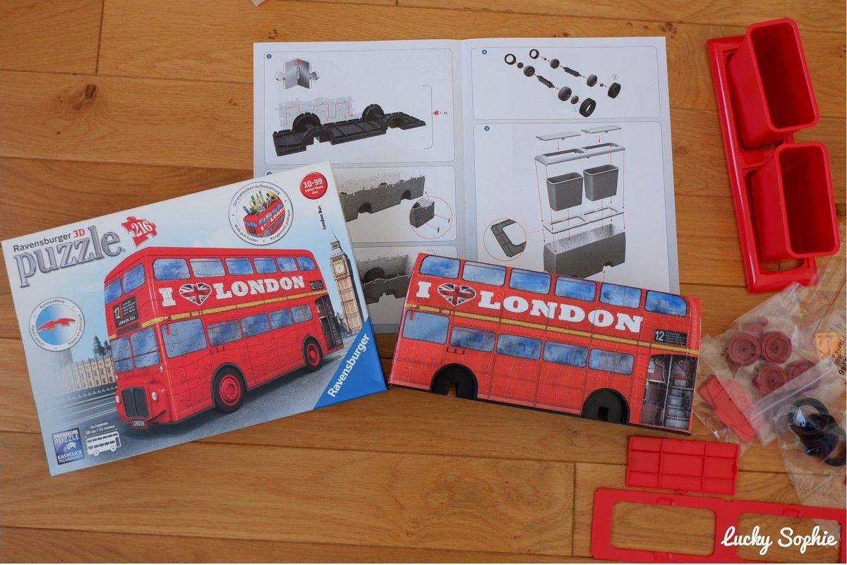 Puzzle 3D : coup de ❤ pour le bus londonien