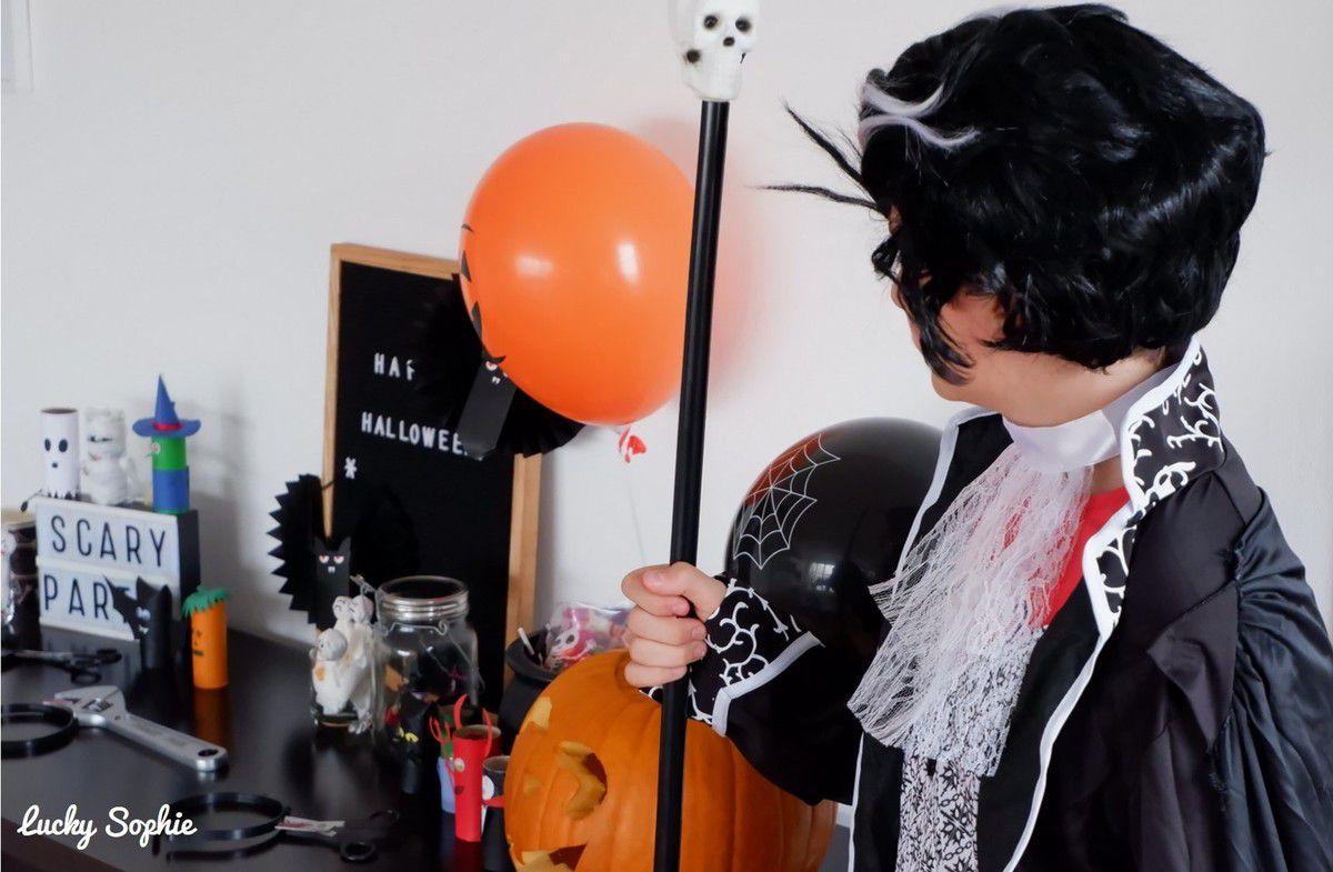 Déguisement, déco et super goûter, Halloween est un bon prétexte pour faire une fête comme un anniversaire sans attendre le prochain anniversaire !