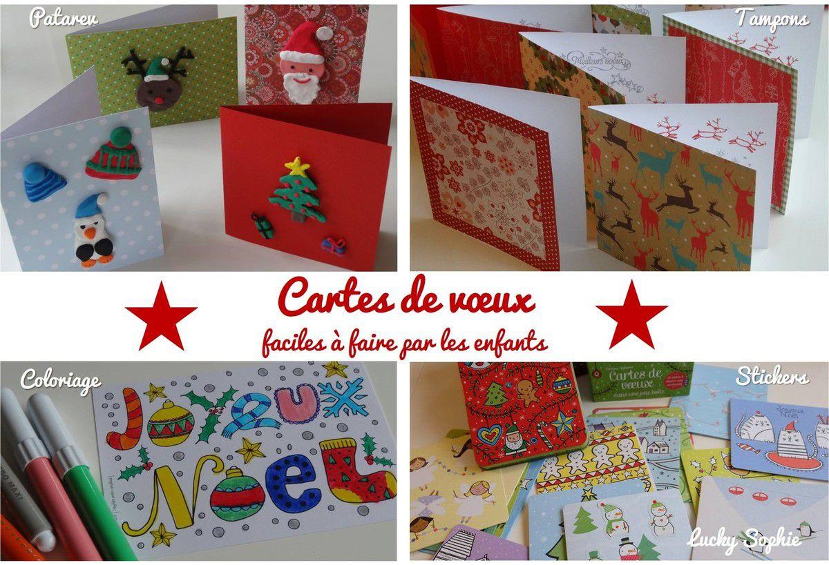 4 DIY faciles de cartes de voeux à faire par les enfants !