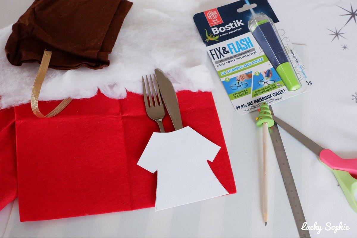 DIY porte-couverts de Noël