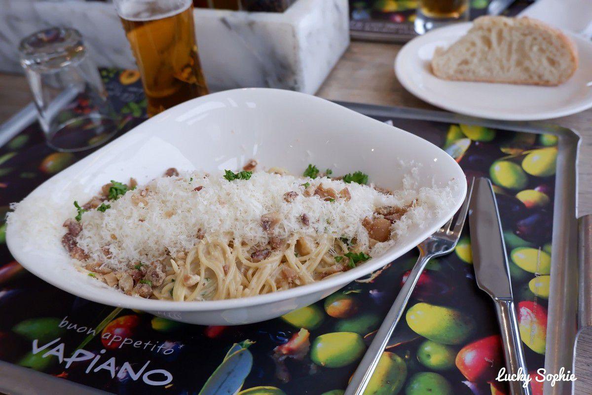 Repas de fêtes chez Vapiano