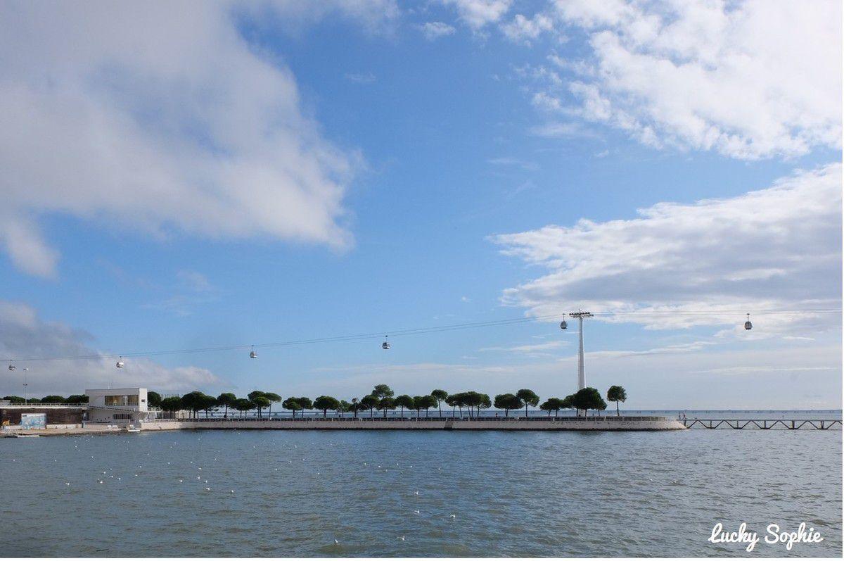Le téléphérique du Parc des Nations à Lisbonne.