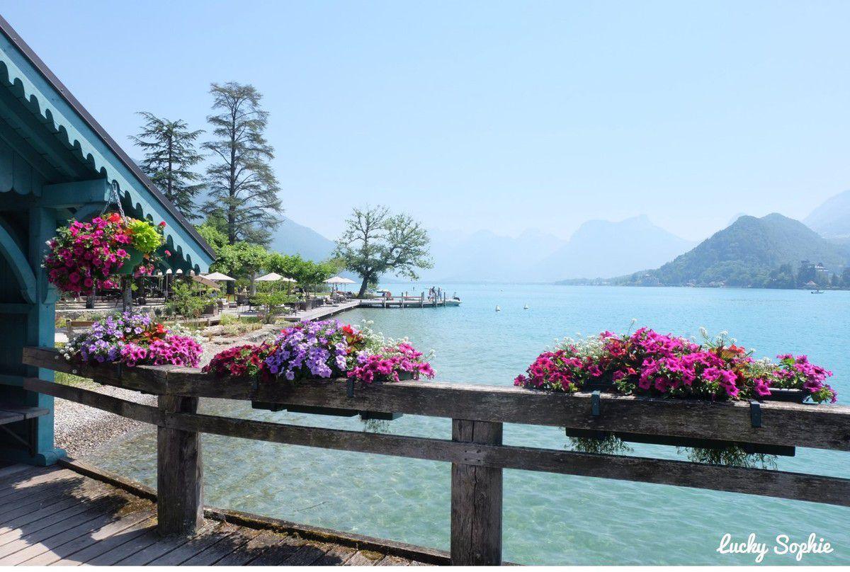 A Talloires, au bord du Lac d'Annecy.