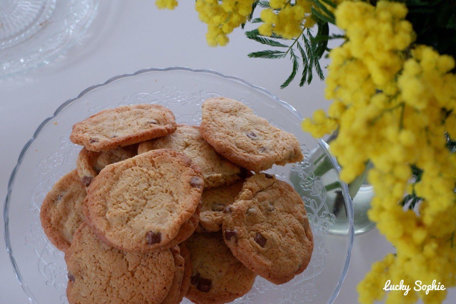 Selon ses envies, on peut faire des cookies plus ou moins plats !