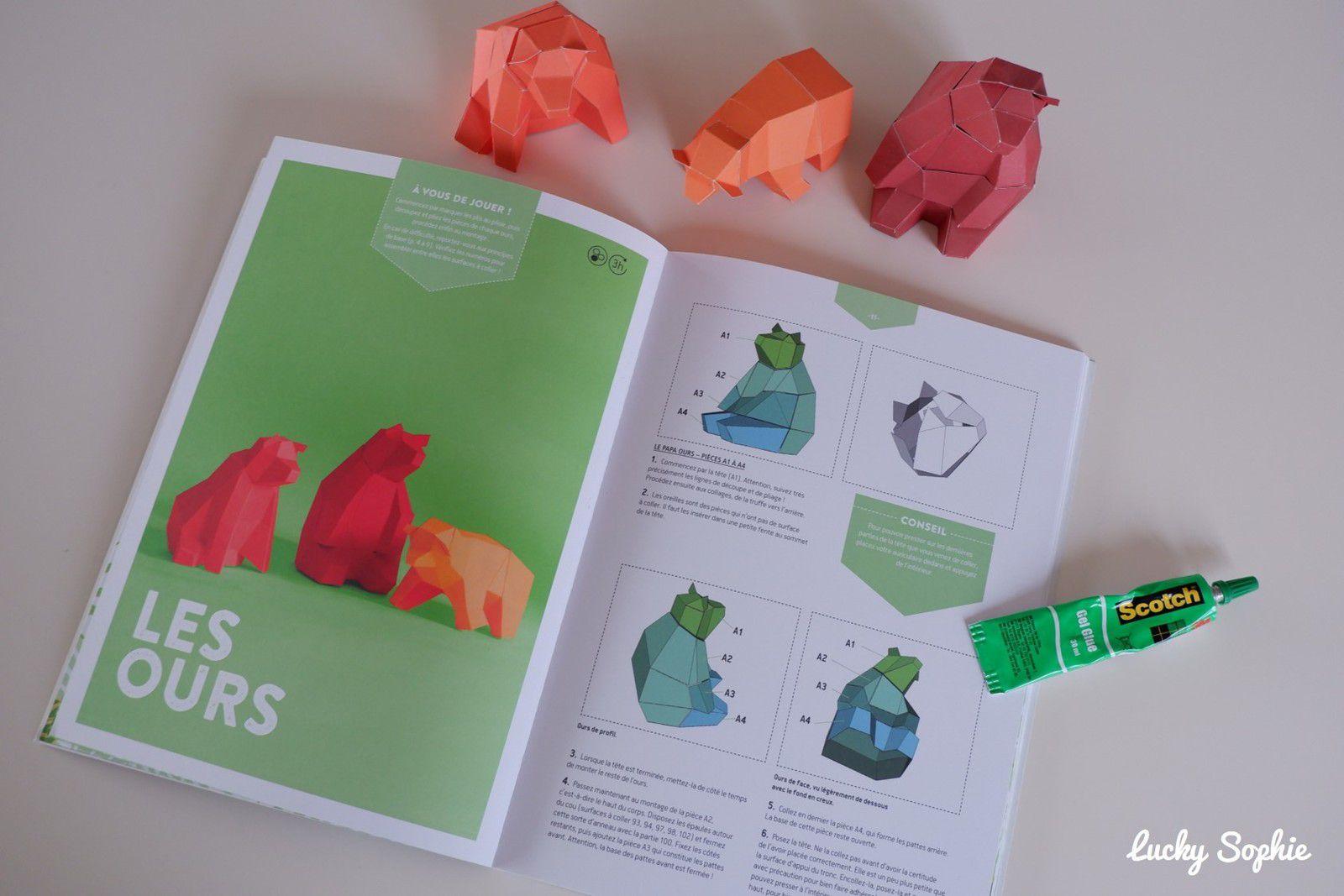 Trophées animaux 3D origami