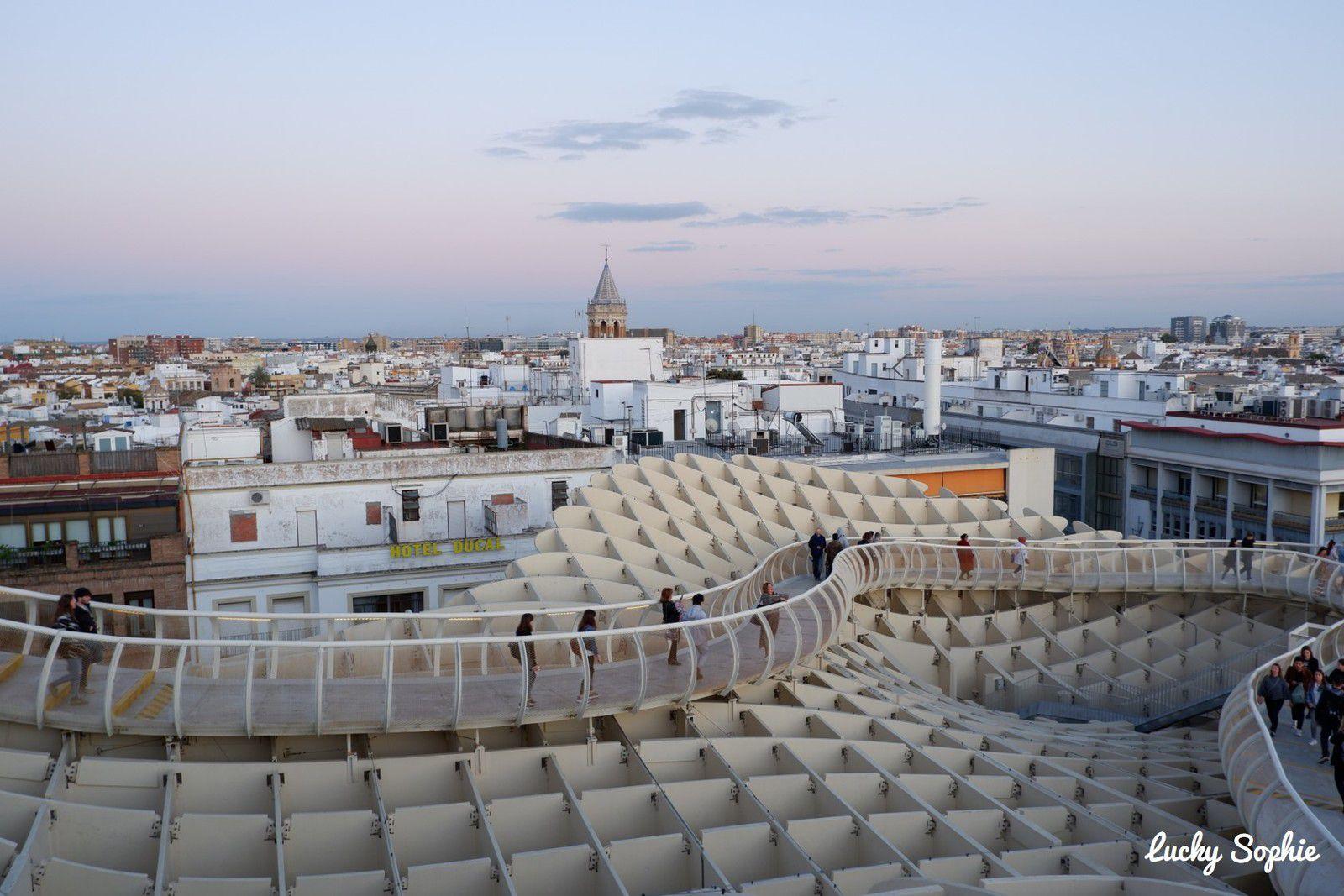 Las Setas, une promenade panoramique sur les toits de Séville.