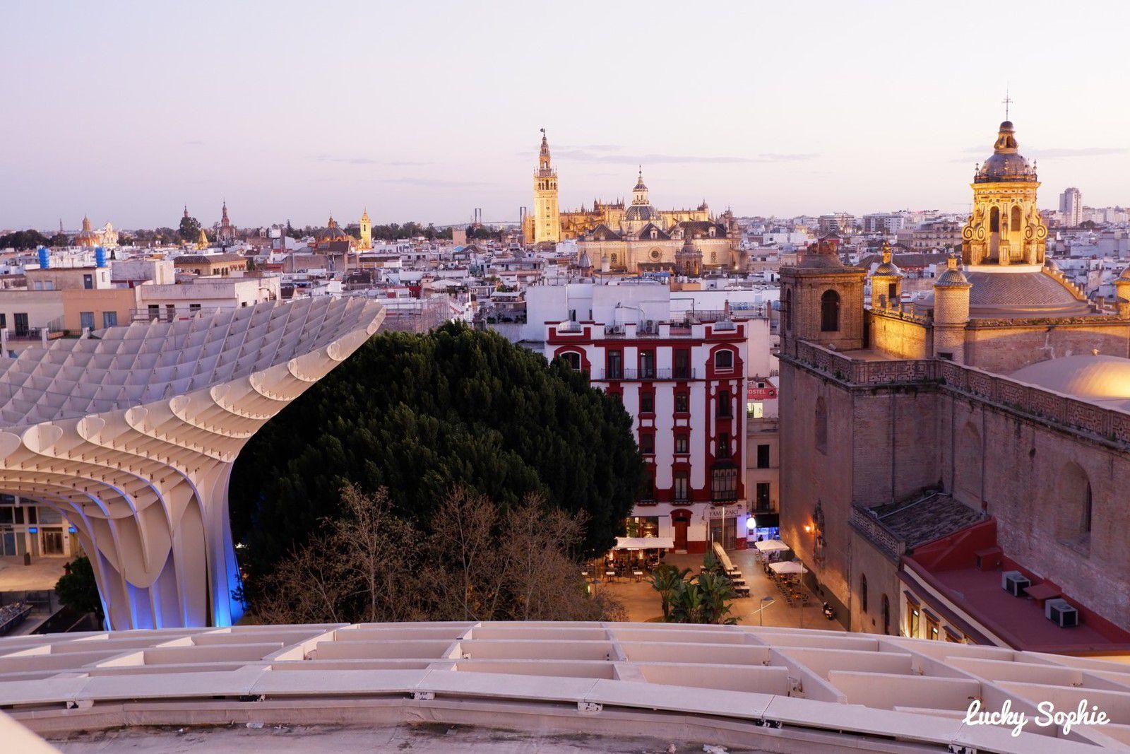 Las Setas, vue sur les toits de Séville