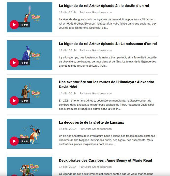 Histoires audio enfants gratuites