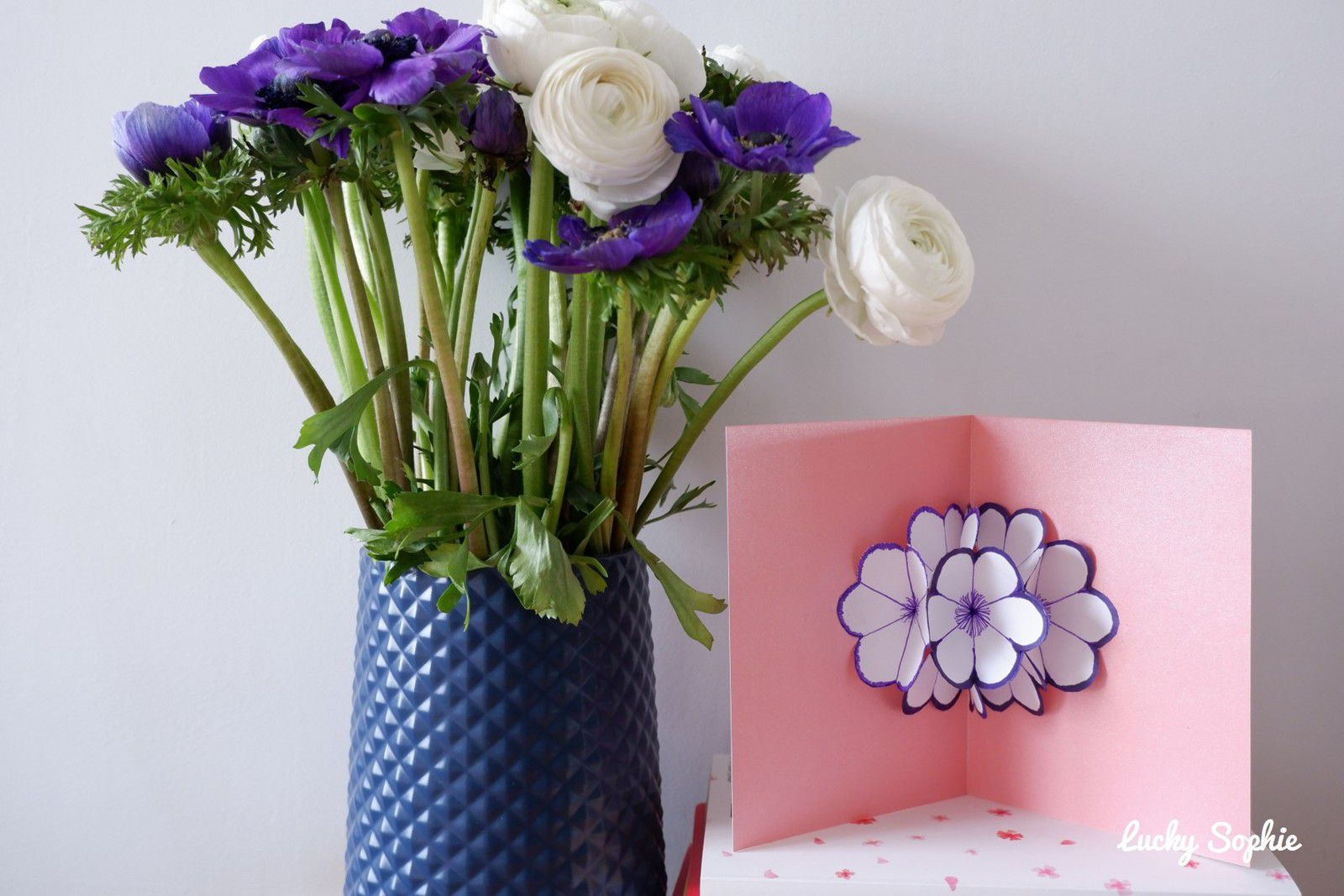 Carte pop up fleurs DIY