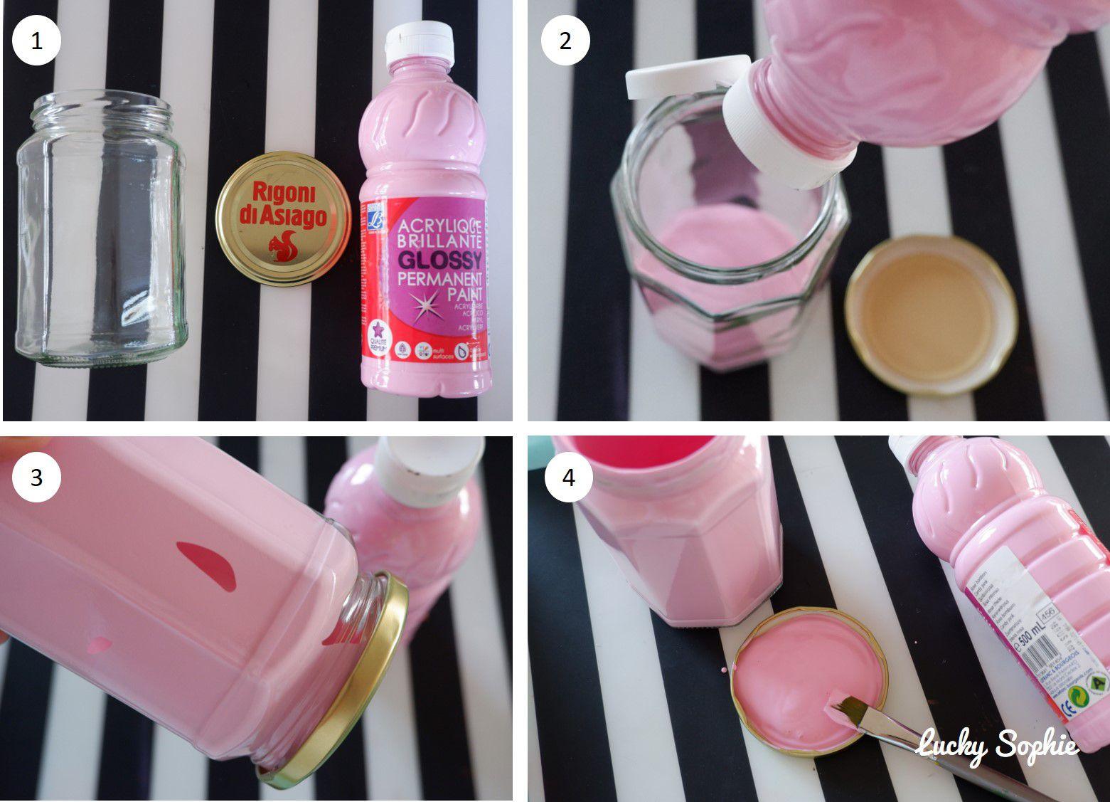 Pots en verre déguisés en lapin DIY récup