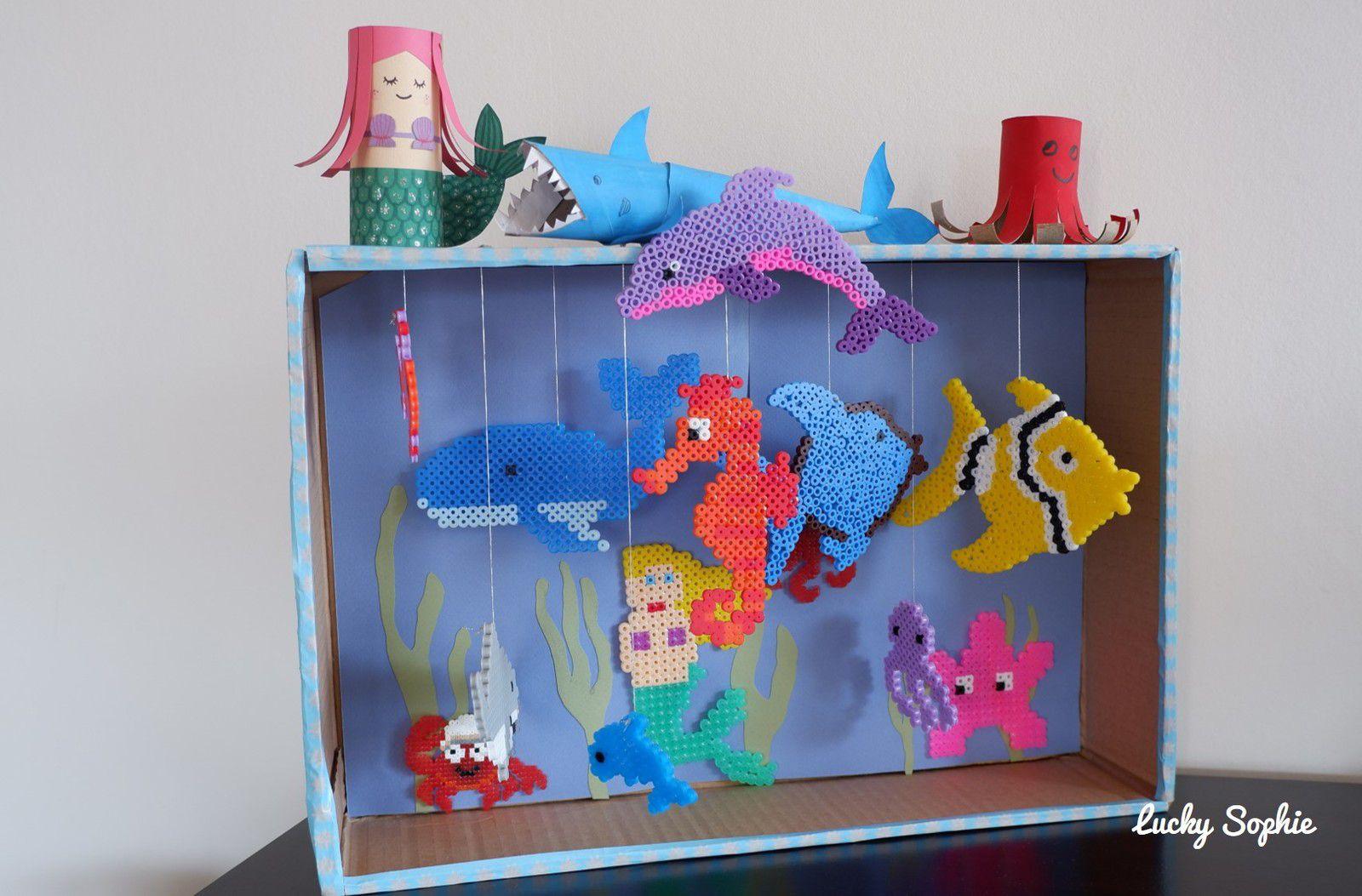 L'aquarium en perles à repasser